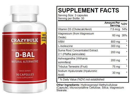 d-bal ingredients used