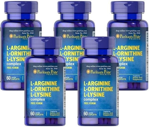 L-arginine-L-ornithine-L-lysine for HGH release